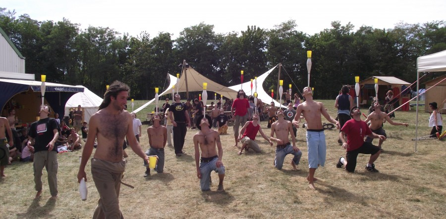 Les jongleurs à Poitiers 2010