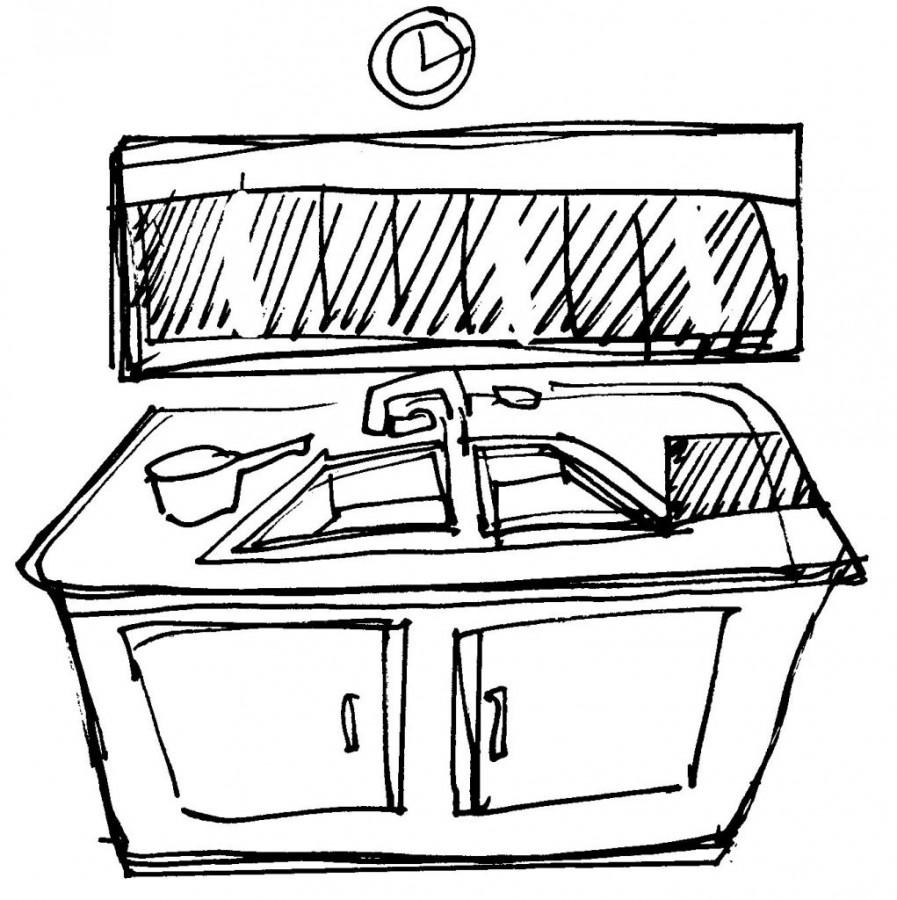 evier de la cuisine