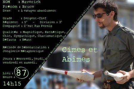 Nouvelle affiche de Bruce Maverick – Annonce Aurillac 2016